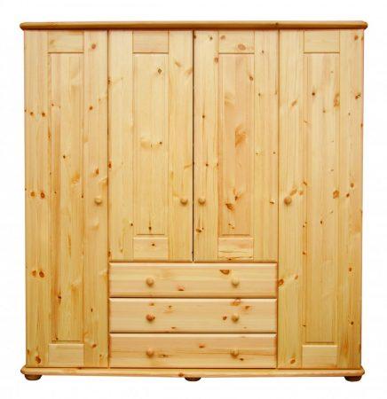 Viki 4 ajtós 3 fiókos szekrény