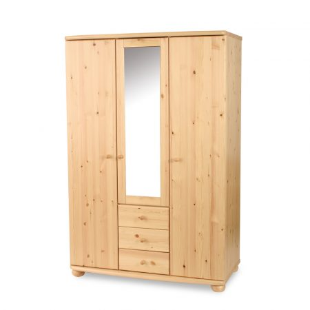 Claudia 3 ajtós, 3 fiókos tükrös szekrény