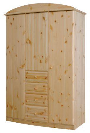 Csanád íves, 3 ajtós 4 fiókos szekrény