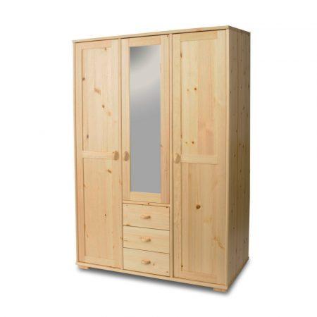 Vanessa 3 ajtós 3 fiókos középen tükrös szekrény