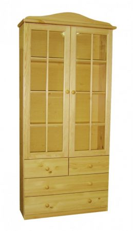 Fagold 2 ajtós, 4 fiókos vitrinszekrény