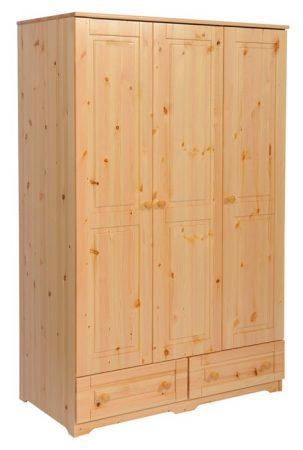 Balázs 3 ajtós, 2 fiókos szekrény