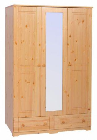 Balázs 3 ajtós 2 fiókos, középen tükrös szekrény