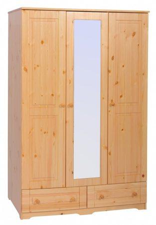 Balázs 3 ajtós, 2 fiókos, tükrös szekrény