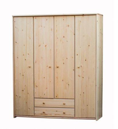 Zsolt 4 ajtós, 2 fiókos szekrény