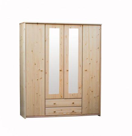 Zsolt 4 ajtós 2 fiókos, tükrös szekrény